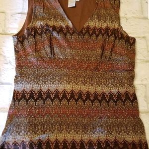 COLDWATER CREEK Stretch Sleeveless Top Small